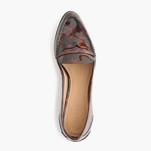 J. Crew Collins Tortise Loafers Patent Leather 8